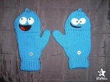 """A o To rękawiczki z  bajki """"Dom dla wymyślonych przyjaciół pani Foster """" Blue"""