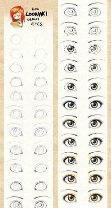 jak rysować oczy