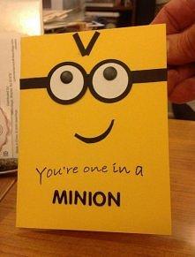 Minionkowa kartka urodzinowa