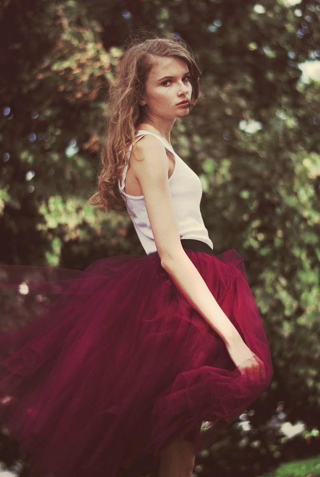 piękna tiulowa spódnica :)