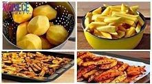 Zdrowsza wersja frytek bez OLEJU ! :) Kroimy ziemniaki. Mieszamy z przyprawami ( papryka słodka, przyprawa do ziemniaków, sól morska). Wstawiamy do piekarnika na 180 stopni na 2...