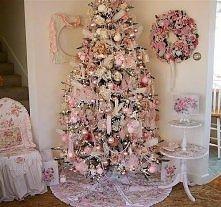 Pink Shabby Chic Christmas Tree