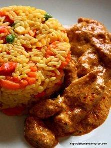 Chicken tikka masala  ryż: - 2 saszetki ryżu długoziarnistego - 1 opakowanie ...