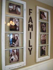 Fajny sposób na zdjęcia rodzinę, w postaci okna. Super wygląda na ścianie :)
