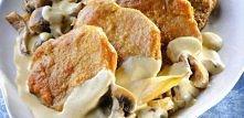 Bitki w sosie grzybowym (560 kcal)