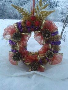 Świąteczny stroik na drzwi :D