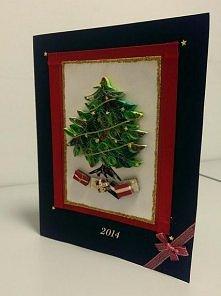 Kartka świąteczna dla mojej rodzinki juz skonczona i wysłana:D