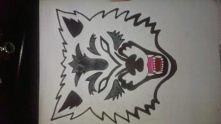 maska wilka mojego wykonani...