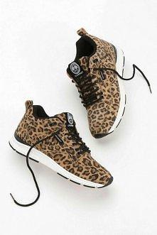 Gourmet Animal Print Suede Running Sneaker