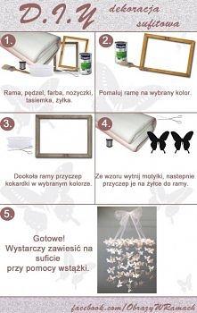 Pomysł na dekorację sufitu :) Klik w zdjęcie po więcej informacji :)
