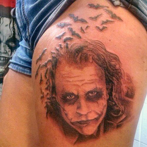 Joker Thigh Tattoo Na Tatuaże Zszywkapl