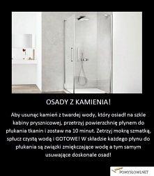 Prosty trik dzięki któremu usuniesz kamień z kabiny prysznicowej!