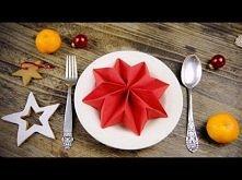 Dekoracje Świąteczne: Składanie serwetki w gwiazdę