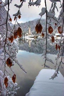 Jezioro Bohinj, Słowenia.