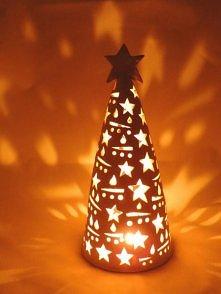 Ceramiczny lampion Choinka