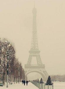 Paryż zimą