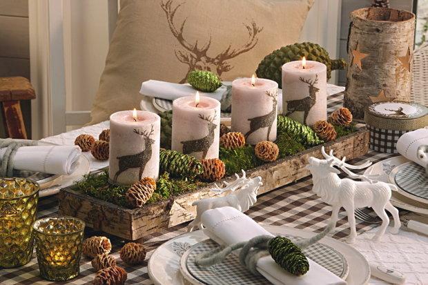 Ciekawy Pomysł Na świąteczny Stół Z świeczkami Na Dekoracje