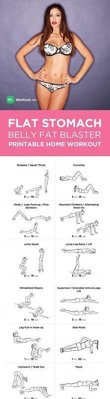 Ćwiczenia na płaski brzuch....
