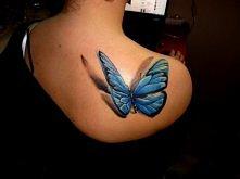 motyl - tatuaż 3D