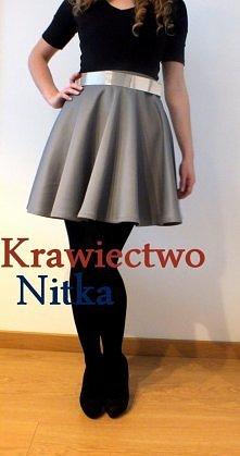 Spódnica z tzw. nurka, klik w zdjęcie; fb: krawiectwo Nitka
