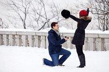 Oświadczyny w zimowej scenerii