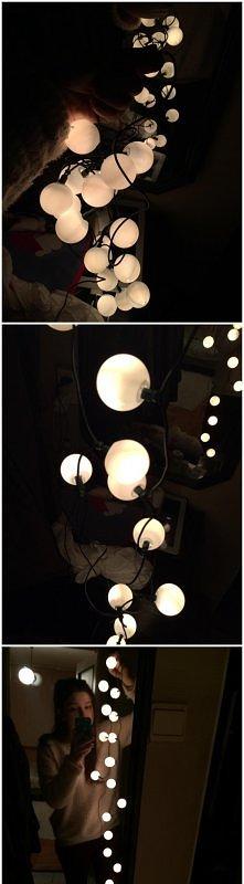 lampki + piłeczki pingpongo...