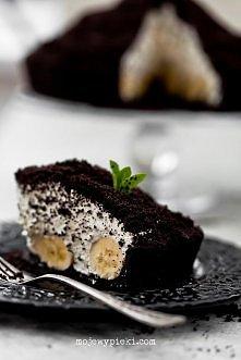 Kopiec kreta Składniki na spód: 350 g ciastek czekoladowych z nadzieniem czek...