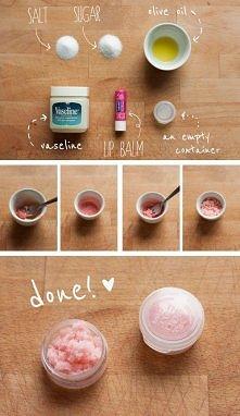 Domowy peeling do ust :)
