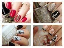 piękne, świąteczne paznokcie