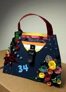 Kartka urodzinowa dla mojej serdecznej kolezanki, ktora lubuje sie w torebkach:)