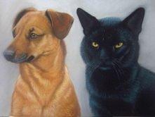 podwójny portret, pastele s...
