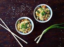 Orientalny zasmażany ryż