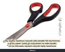 Jak naostrzyć nożyczki w domu?
