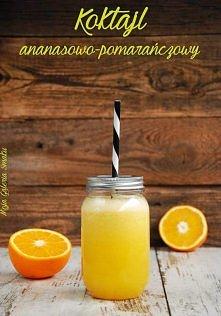 Odchudzający koktajl ananasowo-pomarańczowy Składniki na 2 porcje: 1/2 małego...
