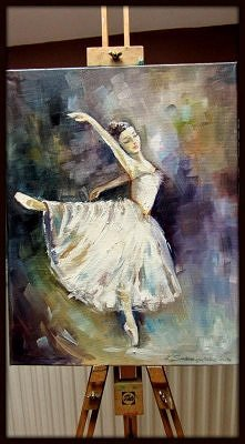 Baletnica- farby olejne- zapraszam na fb i bloga