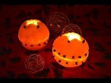 Świeczniki z pomarańczy. Robiłam i efekt jest oszałamiający! ładnie pachnie p...
