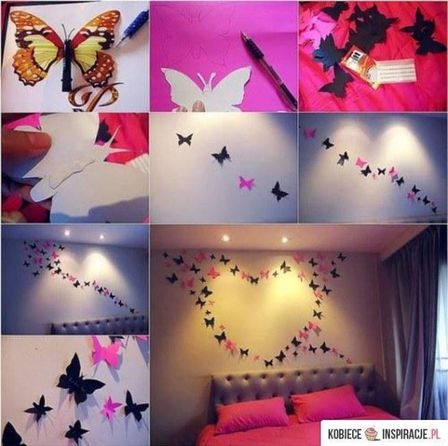 Dekoracja Na ścianę Motyle Na Wystrój I Wnętrza Zszywkapl