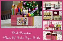 Toilet paper roll desk organizer ... nice and easy!