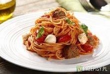 Spaghetti napoli z kulkami Mozzarelli