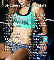 30 dniowe wyzwanie z Mel B! Dziewczyny mierzymy się w pasie,piersiach i brzuc...