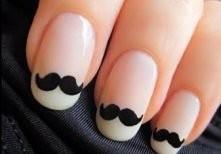 paznokcie z wąsami :)