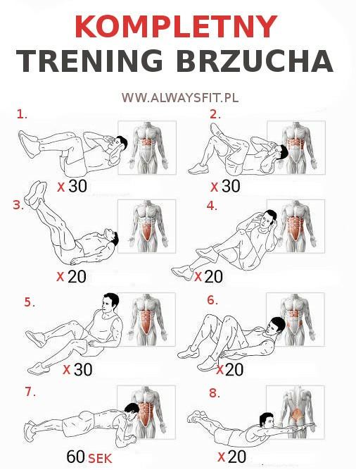 ćwiczenia na brzuszek :)