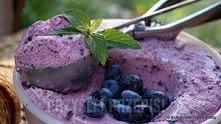 Lody z borówką amerykańską (75 kcal/gałka)