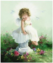anioł w ogrodzie
