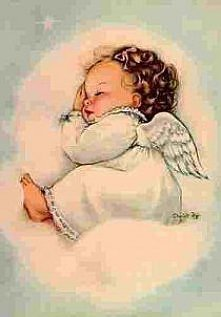 śpiący aniołek