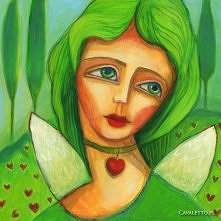zielony anioł