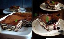 Składniki: (na naczynie do zapiekania o wym. 24x15)  ciasto  300 g mąki pszennej 2 płaskie łyżki kakao 2 żółtka 1 łyżka oleju ok. 150 ml ciepłej wody masa serowa  250 g twarogu ...