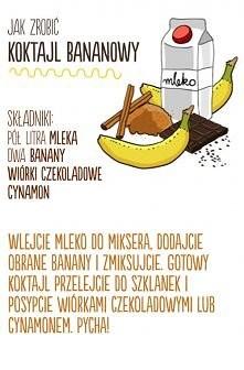 Przepis na koktajl bananowy.