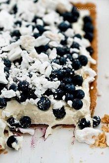 Tarta NIEBO... w gębie Składniki na kruche ciasto:  130 g masła o temperaturze pokojowej pół łyżeczki soli 35 ml mleka o temperaturze pokojowej 175 g mąki pszennej pół łyżeczki ...