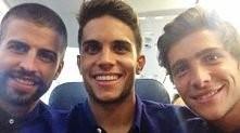 Gerard Pique, Marc Bartra&Sergi Roberto *-*
